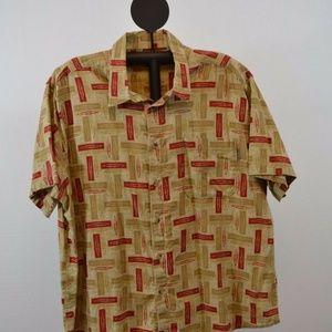 Woolrich Hawaiian 100% Cotton Short Sleeve Shirt 2